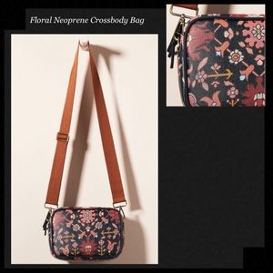 NEOPRENE Black Floral Crossbody Bag